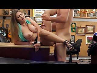 Sexy girl gets screwed at the pawnshop