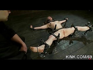 Hot busty sexy girl in fucked in strict bondage!