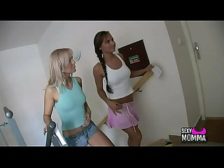 Sexymomma period com 2 very wet horny stepsister love family thing with boo in 3some