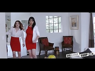 Two hot mom S swap teen daughters