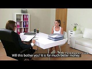 Amateur lesbian sex on casting couch