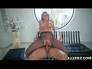 Busty blonde Brooklyn Chase fucked hard in the ass