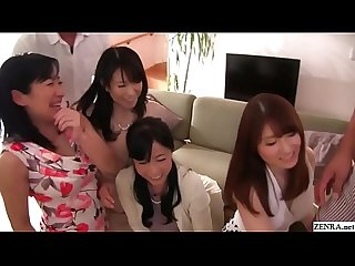 CFNM lineup for mature Japanese wives who like blowjobs