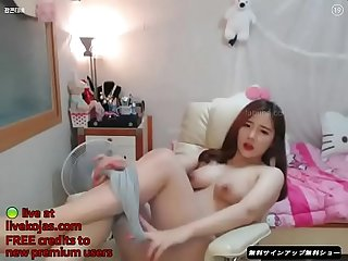 Korean bj curvy beauty live at livekojas com