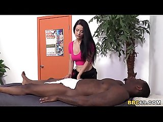 Katrina jade takes bbc on a massage table