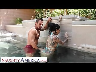 Naughty America - Kassandra Kelly (Joanna Angel) fucks trainer when hubby ignores her