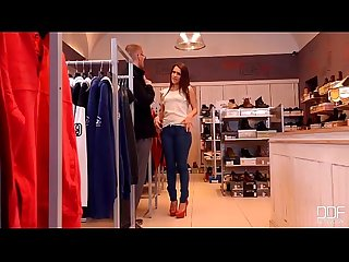 Sexy fashionista gets a fat dick in her curvy ass