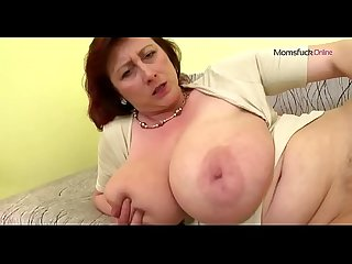 Mature mom with big tits met her at momsfuck online
