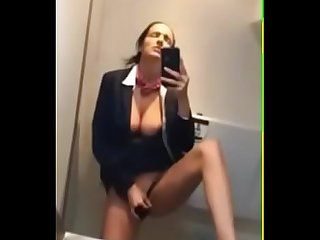 Masturbate on Airplane Toilet - 969camgirls.com