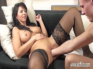 Busty milf loves brutal fisting penetrations