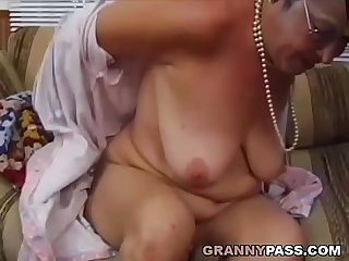 Grandma fucks young dick