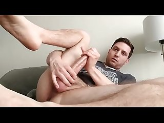 hot dude plays with cock and ass until cums