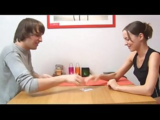 Not brother and not sister play cards for a fuck mygirlswebcam com