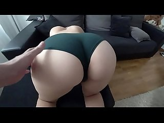STUDENT WITH BIG ASS FUCKS THROUGH THE GREEN PANTIES