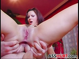 Claudia Rossi gets rough anal