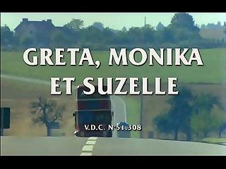 Greta monika et suzelle 1980 dominique saint claire brigitte lelaurain flore sollier
