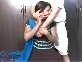 Indian girl getting foreplay with herneighbour uncle