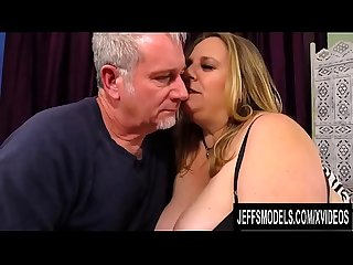 Mature Plumper with Big Natural Boobs Winter Wolf Sucks and Fucks
