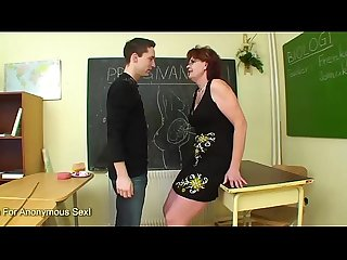 Mature Teacher Bangs Her Student In Class