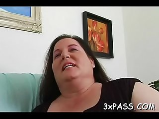 Lad and fattie are having good oral fun before camera