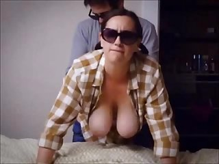 Amateur bab with big tits sex from behind