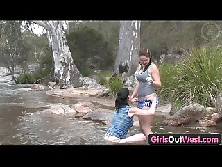 Girls out west aussie lesbian river sex