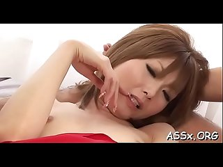 Hot anal drilling for japanese chick during rough gang bang