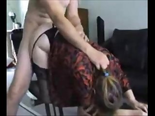 Curvy milf in stockings banged on homemade