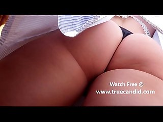 Blonde Teen Blue Dress - Incredble Ass - TrueCandid.com