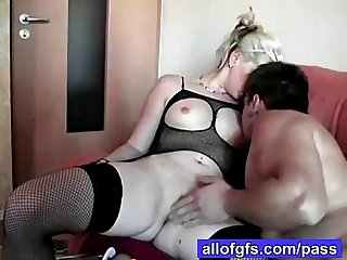 Raunchy amateur couple
