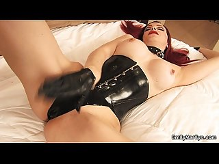 Emily marilyn latex slave girl