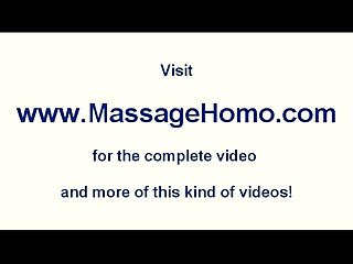 Gay masseur penetrates clients oily ass