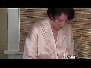 Chesty milf inara fucking a dildo