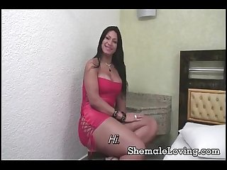 Hot shemale in nasty anal session