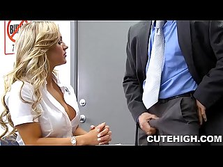Gorgeous Student Persuades a Teacher