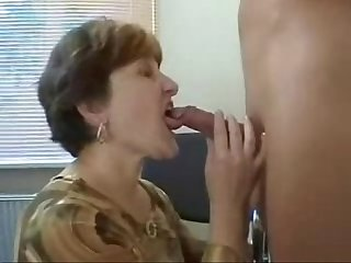 Mature mother loves young boy