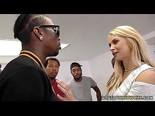 Sarah Vandella Interracial Anal Gangbang