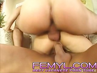 Japanese hot girl needs two dicks at once