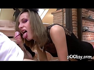 Skinny French Rich girl in stockings Fucked