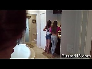 Slutty babysitter got pumped by a horny milf and her gifted husband