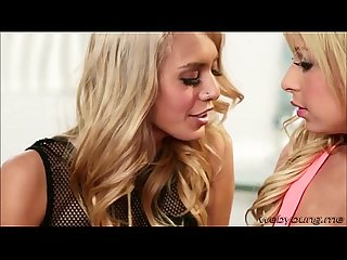 Blonde Carmen gets her pussy licked by gorgeous rockstar Janice