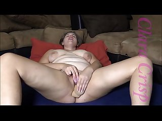 Chubby brunette fingering using vibrator and dildo to cum hard