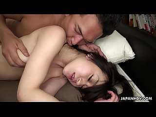 Brunette asian slut getting her hairy cunt fucked deep