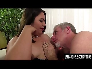 Lucky Old Man Drills Young and Cute Latina Plumper Gia Star