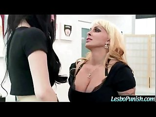 Girl On Girl Lesbians Sex Punishing Tape Using Sex Toys video-12