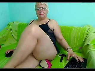 54yr Old mature teacher stiletto heel anal play on Cam