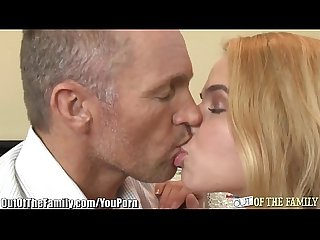 Step daddy gives college daughter anal sex