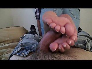 Latina footjob size 4