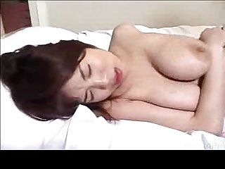 Busty asian girl gets cummed on