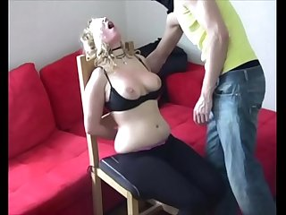 Ouch brutal face and tits slapping